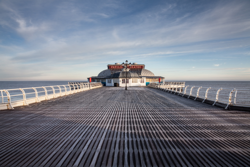 Cromer Pier with frosted boardwalk