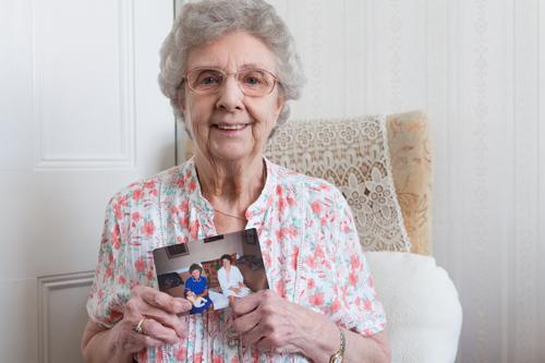 Eileen Richardson, former midwife