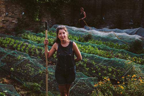 Sarah, patchwork farmer